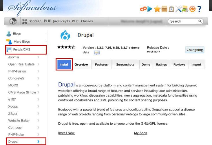 softaculous-drupal-installer
