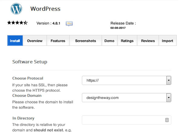 softaculous-wordpress-installer-details