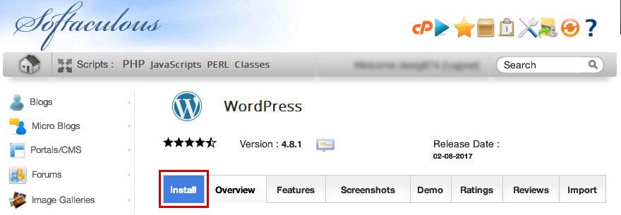 softaculous-wordpress-installer