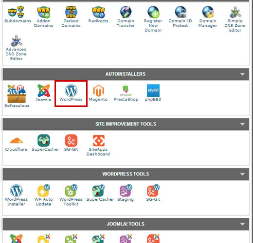 cpanel-wordpress-installer