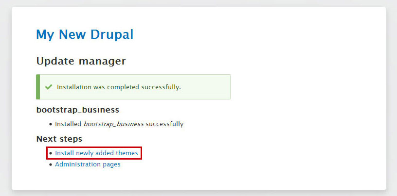 drupal-theme-install