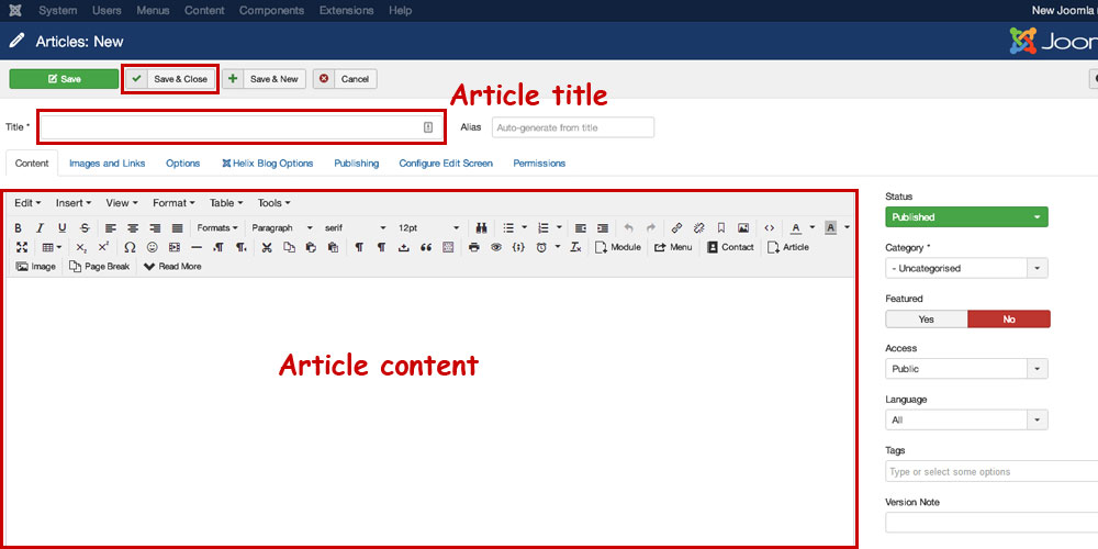 joomla-article-content