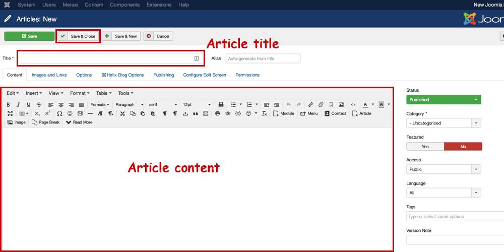 joomla-article-content