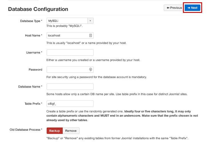 joomla-database-config