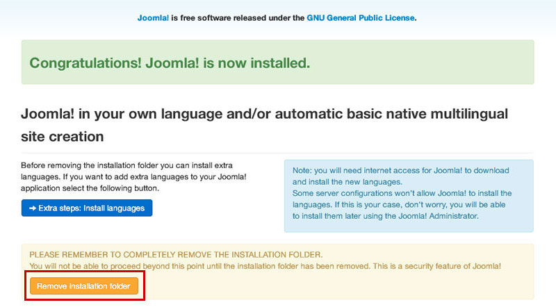 joomla-remove-installation