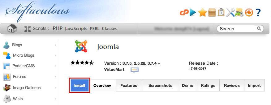 softaculous-joomla-installer