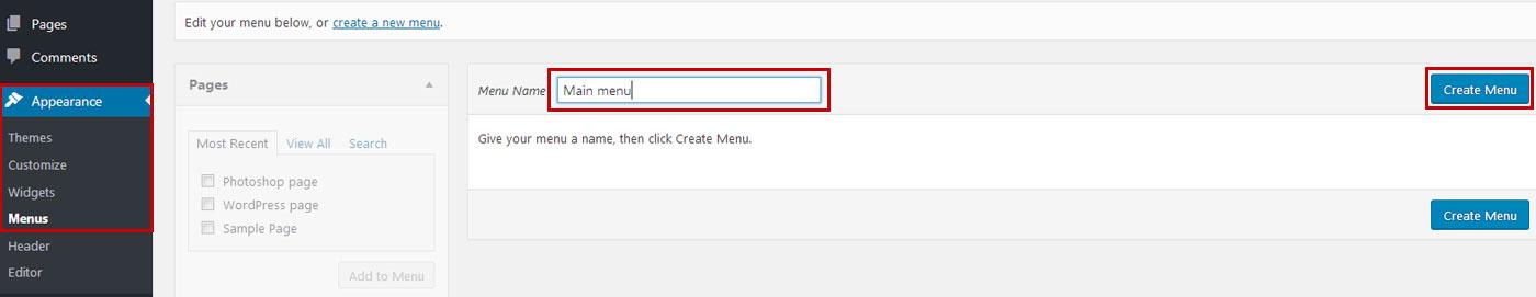 wp-menu-create